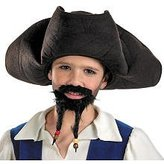 Morris Costumes Pirates of the Caribbean Pirate's Hat with Moustache and Goatee - Child