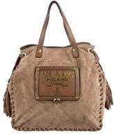 Prada Scamosciato Drawstring Bag