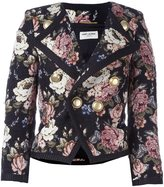 Saint Laurent floral jacquard jacket - women - Silk/Cotton/Acrylic/Alpaca - 40