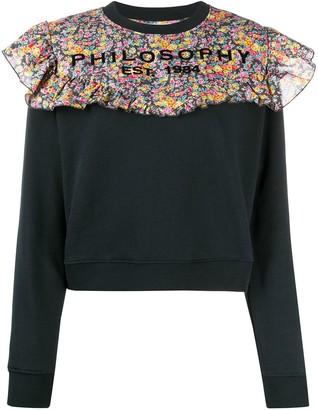 Philosophy di Lorenzo Serafini Floral-Panelled Sweatshirt