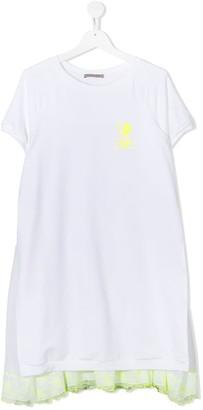 Ermanno Scervino TEEN lace-trim T-shirt dress