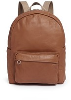 Camel Leather Backpack - ShopStyle