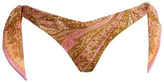 Zimmermann Brighton Scarf-Tie Bikini Bottoms
