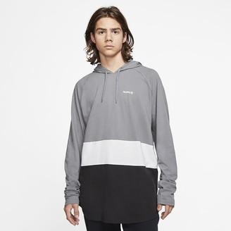 Nike Men's Long-Sleeve Hooded T-Shirt Hurley Premium Hot Block