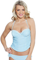 Betsey Johnson Picnic Gingham Molded Tankini Top
