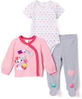 Taggies Pink Unicorn Cardigan Set - Infant