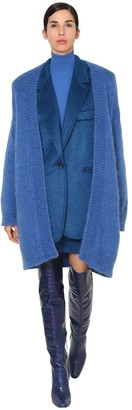 Max Mara Long Mohair Blend Knit Cardigan