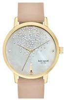 Kate Spade Women's 'Metro' Leather Strap Watch, 34Mm