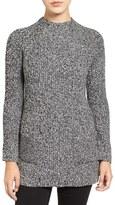 Chaus Two-Pocket Mock Neck Tunic Sweater