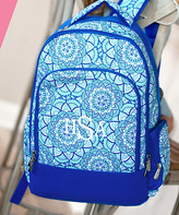Designs By Two Greek Sisters Designs by Two Greek Sisters Backpacks - Blue Day Dream Monogram Backpack