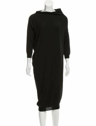 Lanvin Wool Sweater Dress Black