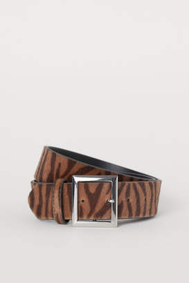 H&M Faux Fur Waist Belt
