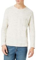 Topman Men's Slim Fit Slub Crewneck Sweater