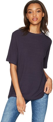 The Fifth Label Women's Wander Gathered Seam Soft Knit Casual Slouchy Tshirt TOP