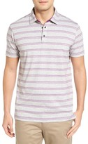 Bobby Jones Men's Shadow Stripe Stripe Pique Golf Polo