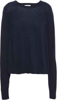 Sandro Ana Ruched Wool-blend Sweater