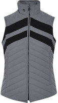 Cavalleria Toscana Fashion Show Paneled Quilted Shell Down Gilet - Gray