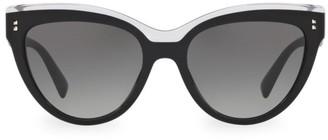 Valentino 54MM Two-Tone Cat Eye Sunglasses