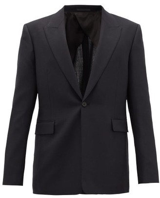 The Row Mason Single-breasted Tropical-wool Suit Jacket - Dark Navy
