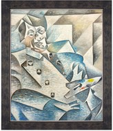 Portrait of Pablo Picasso - Framed Oil reproduction of an original painting by Juan Gris