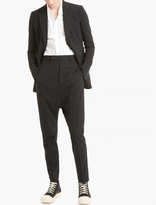 Rick Owens Black Wool One-Button Blazer