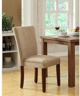 HomePop Parsons Tan/ Mocha Velvet Dining Chair (Set of 2)