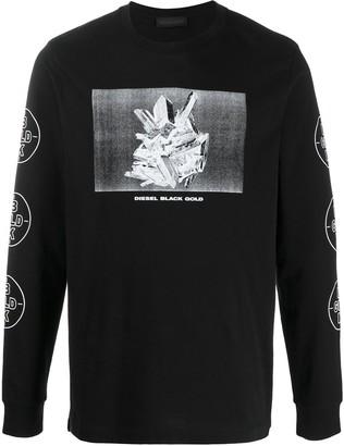 Diesel Black Gold Graphic-Print Crew Neck Top
