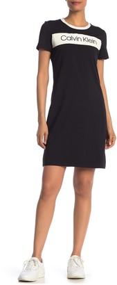 Calvin Klein Colorblock T-Shirt Dress