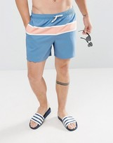 Abercrombie & Fitch Swim Shorts 5 Colourblock In Blue