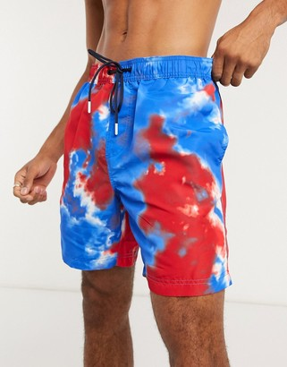 Tommy Hilfiger Tommy Hilfger tie dye swimshorts in blue