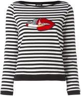 Just Cavalli 'lips' patch longsleeved T-shirt