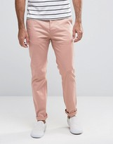 Asos Slim Chinos In Pink