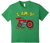 Kids 5th Birthday Tractor T-Shirt. Kids 5 year Birthday Farm Tee 6