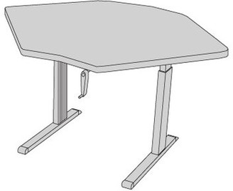 "59"" W Equity Height Adjustable Training Table Populas Furniture Tabletop Finish: Urban Walnut"