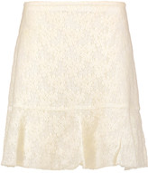 See by Chloe Felted lace mini skirt