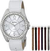 XOXO Women's XO9054 Seven Color Croco Interchangeable Strap Set Watch