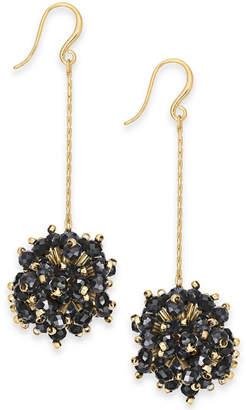 INC International Concepts Inc Gold-Tone Beaded Burst Linear Drop Earrings