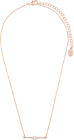Accessorize Diamante Bar Pendant Necklace