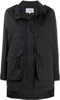 Enfold Limonata hooded raincoat