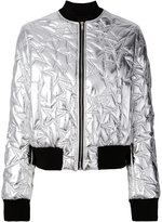 MSGM star quilted bomber jacket