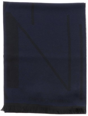 Emporio Armani Scarf Scarf In Basic Blended Wool With Logo