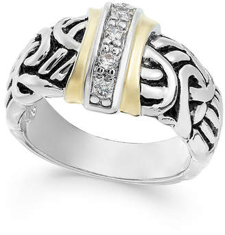Charter Club Two-Tone Pave Vintage-Inspired Ring