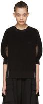 Sacai Black Organza Striped Pullover