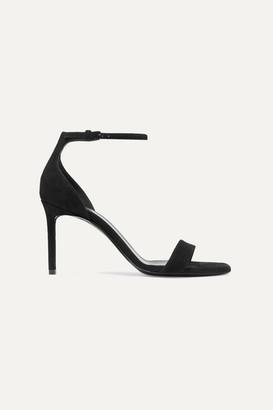 Saint Laurent Amber Suede Sandals - Black