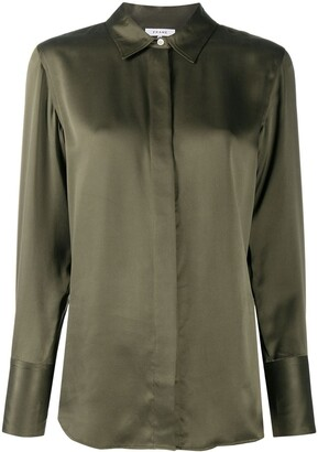 Frame Long Sleeve Silk Shirt