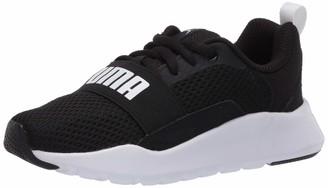 Puma Unisex-Kid's Wired Sneaker Black White White 11.5 M US Little Kid