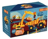 Chronicle Books Boy's Construction Illustrated 100-Piece Foil Puzzle
