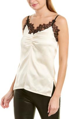 Helmut Lang Lace Slip Double Silk Top