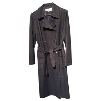 Balenciaga Blue Wool Trench Coat for Women Vintage
