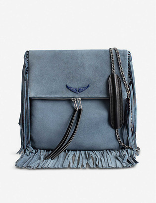 Zadig & Voltaire Rockson fringed suede shoulder bag